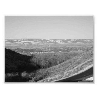 Vallée 2 (NOIRE ET BLANCHE) Tirage Photo