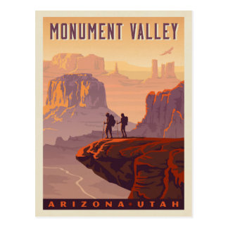 Vallée | Arizona et Utah de monument Carte Postale