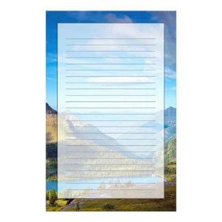 Vallée au-delà papiers à lettres