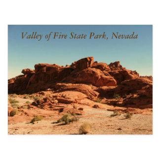 Vallée de parc d état du feu carte postale