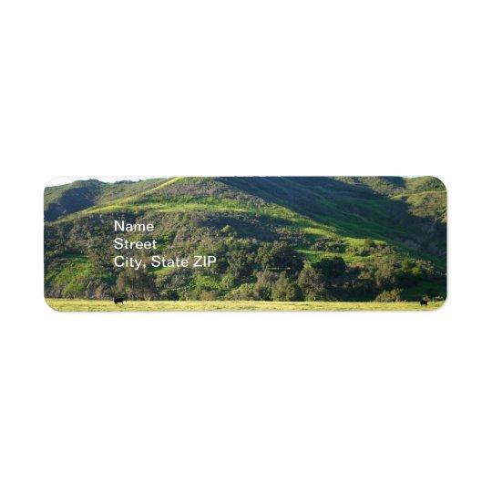 Vallée de pré étiquettes d'adresse retour