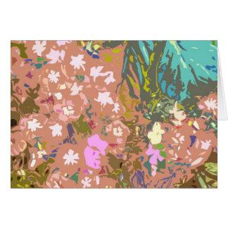 Vallée de vision nocturne des fleurs 1 carte de vœux
