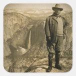 Vallée de Yosemite de point de glacier de Teddy Ro Adhésif