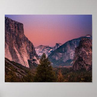 Vallée de Yosemite Poster