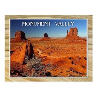 Vallée, l'Utah et l'Arizona de monument Carte Postale