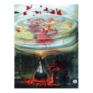 Valses du mouvement giratoire de la sorcière cartes postales