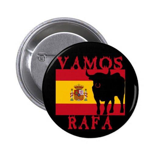 Vamos Rafa avec le drapeau de l'Espagne Pin's Avec Agrafe