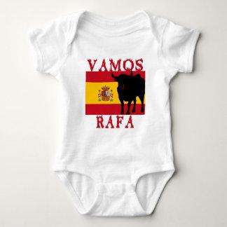 Vamos Rafa avec le drapeau de l'Espagne Body