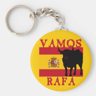 Vamos Rafa avec le drapeau de l'Espagne Porte-clé