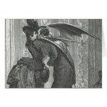 Vampire à ailes victorien/gothique d'un baiser carte de vœux