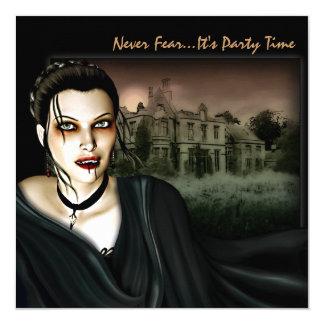 Vampire à l'invitation gothique de partie de Hall Carton D'invitation 13,33 Cm