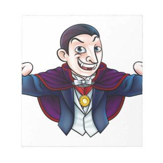 Vampire de Halloween de bande dessinée Bloc-note