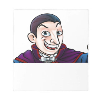 Vampire de Halloween de bande dessinée jetant un Blocs Notes