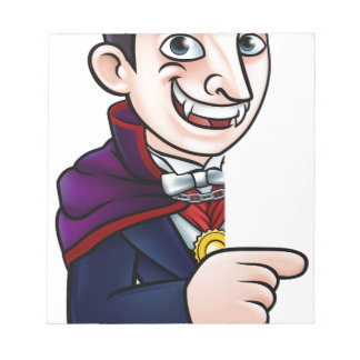 Vampire de Halloween de bande dessinée se Bloc-note