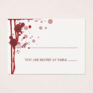 Vampire Halloween épousant le faux sang de Cartes De Visite