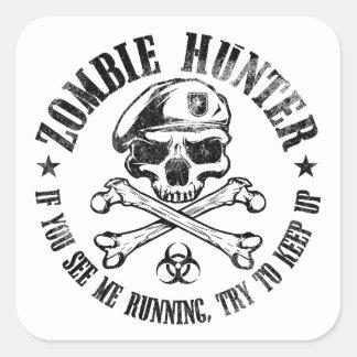 vampires de chasseur de zombi vivant complètement autocollants carrés