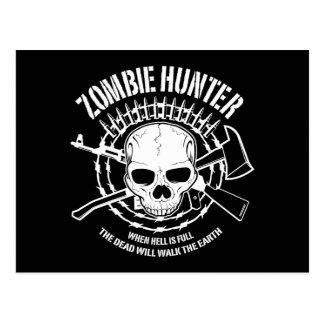 vampires de chasseur de zombi vivant complètement carte postale