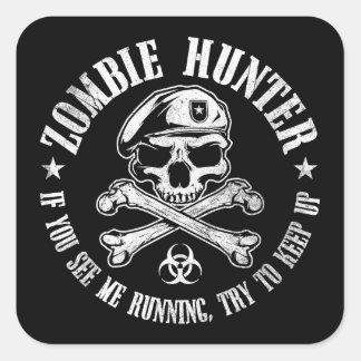 vampires de chasseur de zombi vivant complètement sticker carré