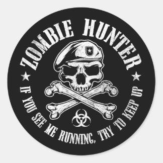 vampires de chasseur de zombi vivant complètement sticker rond