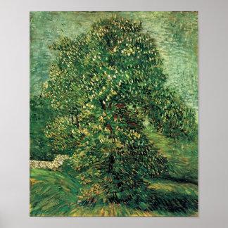 Van Gogh - arbre de châtaigne dans la fleur Posters