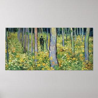 Van Gogh - broussaille avec deux figures Posters