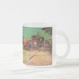 Van Gogh ; Campement des gitans avec des caravanes Tasse Givré