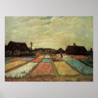 Van Gogh - champs d'ampoule Posters