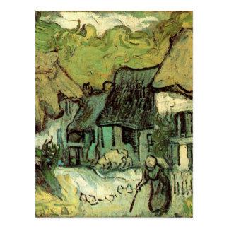 Van Gogh ; Cottages couverts de chaume Jorgus, Cartes Postales