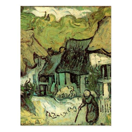 Van Gogh ; Cottages couverts de chaume Jorgus, Cha Cartes Postales