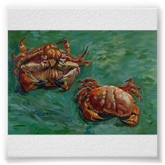 Van Gogh - deux crabes Posters