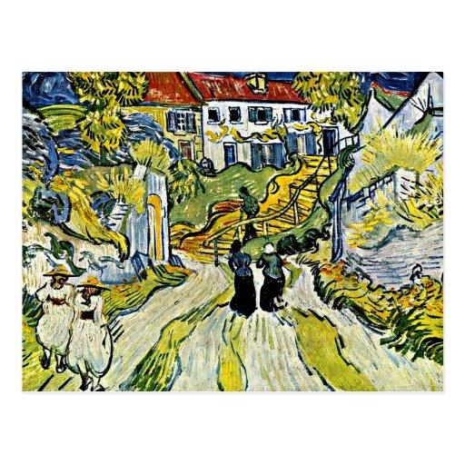 Van Gogh - escalier chez Auvers Cartes Postales