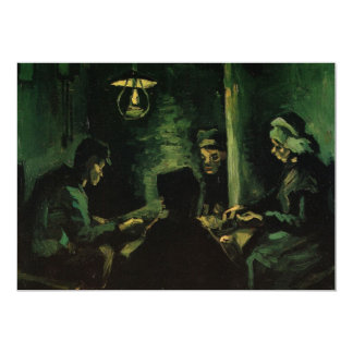 Van Gogh ; Étude pour les mangeurs de pomme de Carton D'invitation 12,7 Cm X 17,78 Cm