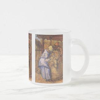 Van Gogh ; Haveuses de moutons, impressionisme Mug En Verre Givré