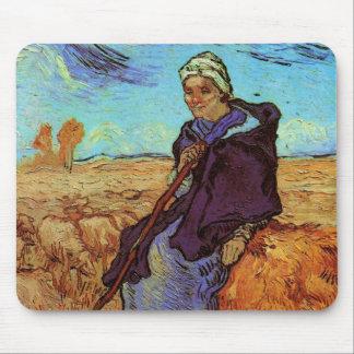 Van Gogh ; La bergère, impressionisme vintage Tapis De Souris