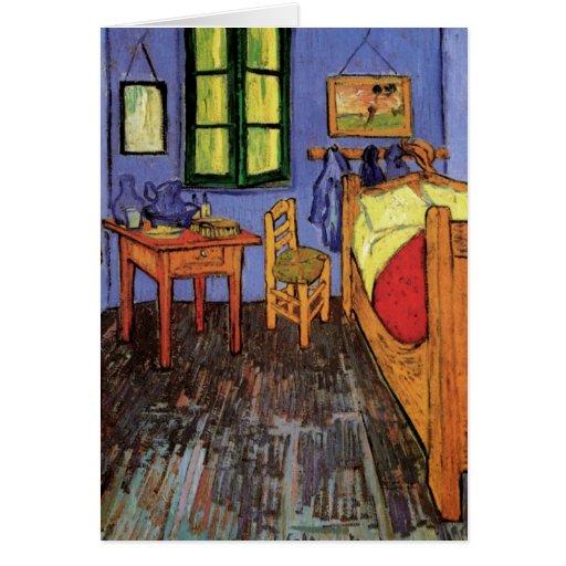 Van gogh la chambre coucher de vincent dans ar cartes zazzle - La chambre a coucher van gogh ...