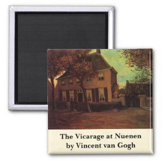 Van Gogh la cure chez Nuenen, beaux-arts vintages Magnet Carré