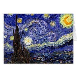 Van Gogh - la nuit étoilée Carte De Vœux