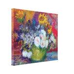 Van Gogh - la vie toujours avec des roses et des t Toile Tendue Sur Châssis