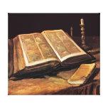 Van Gogh - la vie toujours avec la bible Toiles Tendues Sur Châssis
