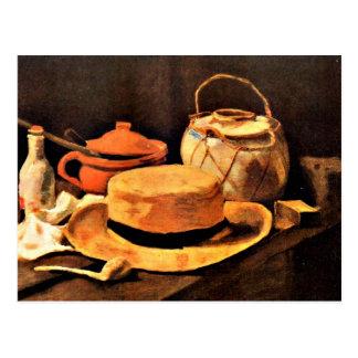 Van Gogh : La vie toujours avec le casquette jaune Carte Postale