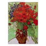 Van Gogh ; La vie toujours : Pavots et marguerites Cartes De Vœux