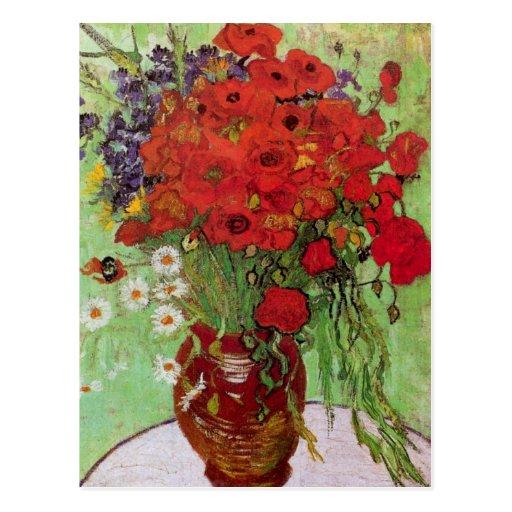Van Gogh ; La vie toujours : Pavots et marguerites Carte Postale