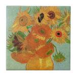 Van Gogh ; La vie toujours : Vase avec 12 tourneso Carreau