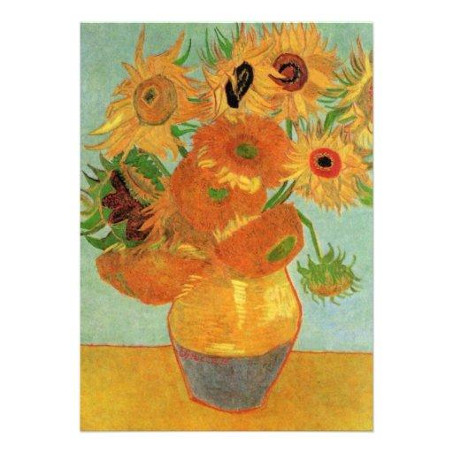 Van Gogh ; La vie toujours : Vase avec 12 tourneso Bristol Personnalisé