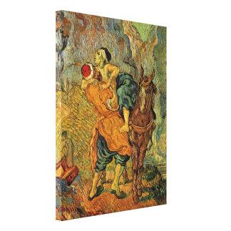 Van Gogh le bon Samaritain, impressionisme vintage Toiles Tendues Sur Châssis