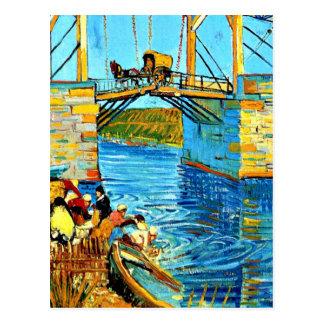 Van Gogh - le pont de Langlois chez Arles avec des Carte Postale