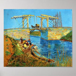Van Gogh : Le pont de Langlois chez Arles avec des Posters