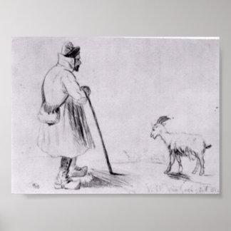 Van Gogh - le troupeau de chèvre Posters