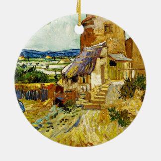 Van Gogh - le vieux moulin Ornement Rond En Céramique