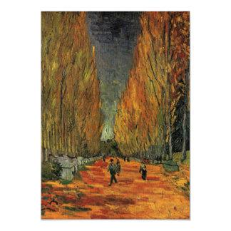 Van Gogh ; Les Alyscamps (cimetière), art vintage Carton D'invitation 12,7 Cm X 17,78 Cm